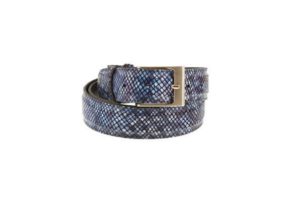 Belt Navy Black Print