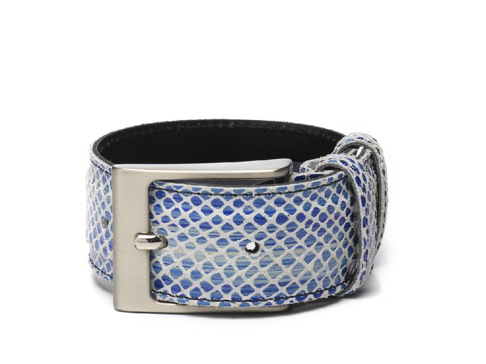 Belt Navy Print White - Berkelmans